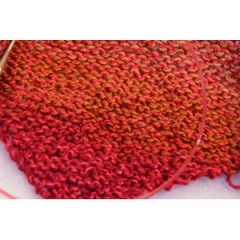 red yarn knit