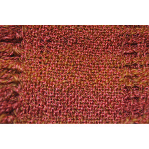 red yarn woven