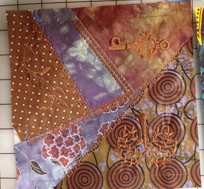 crazy quilt brown