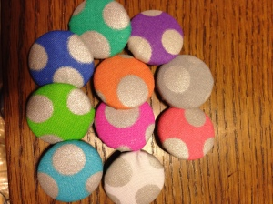 Handmade buttons for hand knit sweaters